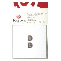 Wachsbuchstaben D 9mm 2 Stück silber