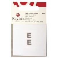 Wachsbuchstaben E 9mm 2 Stück silber