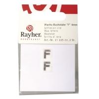 Wachsbuchstaben F 9mm 2 Stück silber