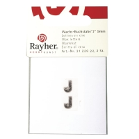 Wachsbuchstaben J 9mm 2 Stück silber