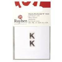 Wachsbuchstaben K 9mm 2 Stück silber
