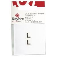 Wachsbuchstaben L 9mm 2 Stück silber