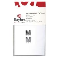 Wachsbuchstaben M 9mm 2 Stück silber