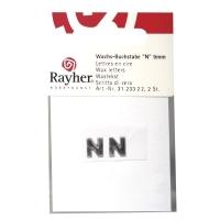 Wachsbuchstaben N 9mm 2 Stück silber