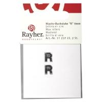 Wachsbuchstaben R 9mm 2 Stück silber