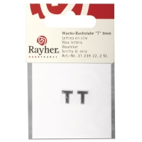 Wachsbuchstaben T 9mm 2 Stück silber
