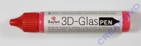 Rauher 3D-Glasdecor-Pen klassikrot