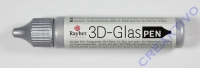 Rauher 3D-Glasdecor-Pen silber