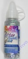 Glitter Glue Confetti - Sterne silber