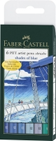 Tuschestift PITT artist pen B 6er Etui shades of blue