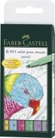 Tuschestift PITT artist pen B 6er Etui pastel