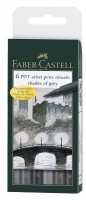 Tuschestift PITT artist pen B 6er Etui shades of grey