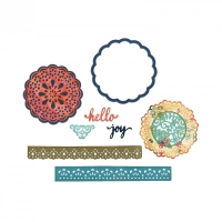 Sizzix Thinlits Die Set 7PK - Hello Doily