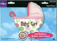 Folieballon 79cm x 71cm Baby Girl