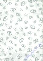 Transparentpapier A4 - Herzen silber (Restbestand)