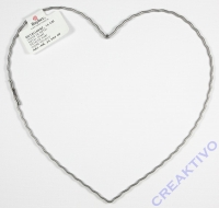 Herz 15cm aus gewelltem Flachdraht 15cm