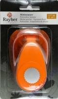 Rayher Motivstanzer rund mit Zierrand 3,16cm