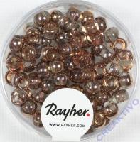 Rocailles-Mix mit Großloch, 5,5mm ø Kupfer-Töne