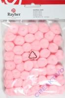 Pompons 20mm 50 Stück rosa