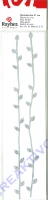 Rayher Wachs-Borten 21cm silber