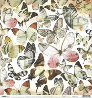 Scrapbooking-Papier Kaisercraft Mademoiselle - P2125 Flutter