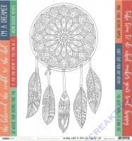 Scrapbooking-Papier Kaisercraft Boho Dreams - P2112 Daydreamer