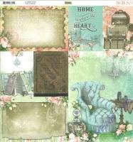 Scrapbooking-Papier Bo Bunny Soirée - Home