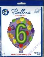 Folienballon 6 45cm