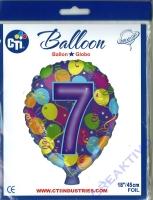 Folienballon 7 45cm