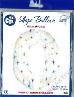 Multi-colored Sparkles Folienballon 0 106cm
