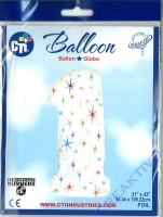 Multi-colored Sparkles Folienballon 1 106cm