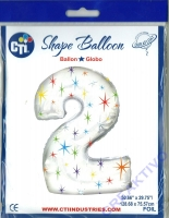 Multi-colored Sparkles Folienballon 2 106cm