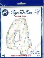 Multi-colored Sparkles Folienballon 4 106cm