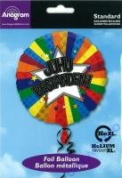 Folienballon Juhu Bestanden! 45cm