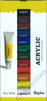 Rayher Künstler-Acrylfarbe 12 x 12ml