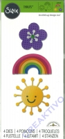 Sizzix Thinlits Die Set 4PK - Flower, Rainbow & Sun