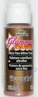 DecoArt Glamour Dust Ultra Fine Glitter Paint 59ml - copper (Restbestand)