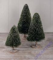 Handgefertigter Deko-Tannenbaum aus Naturmaterial, beschneit 48cm