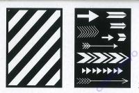 Schablonenset DIN A5  Waben und Dreiecke