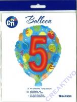 Folienballon 5 45cm