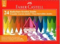 Faber-Castell Radierbare Kreide Jumbo GRIP 24er Kartonetui