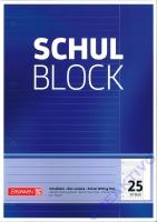 Schulblock liniert mit Rand Nr. 25