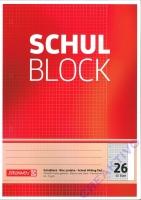 Schulblock kariert mit Rand Nr. 26