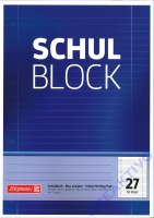 Schulblock liniert mit Randlinien Nr. 27