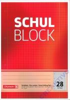 Schulblock kariert mit Randlinien Nr. 28