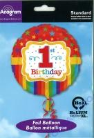 Folienballon 1. Birthday