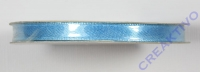 Satinband mit Webkante, türkis, 6 mm, Rolle 10 m
