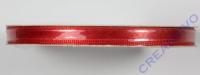 Satinband mit Webkante, rot, 6 mm, Rolle 25 m