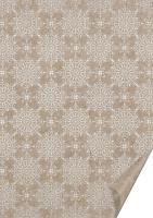 Naturkarton 50x70 220g Ornament silber glänzend