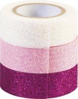 Glitter Tapes 3er pink